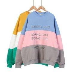 Momewear - 插色字母套衫
