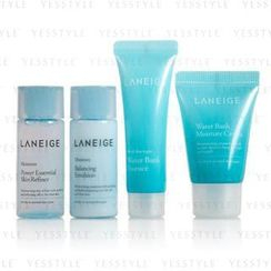 Laneige - Basic Step Trial Kit (for dry to normal skin types) (4 items): Emulsion 15ml + Refiner 15ml + Cream 10ml + Essence 10ml