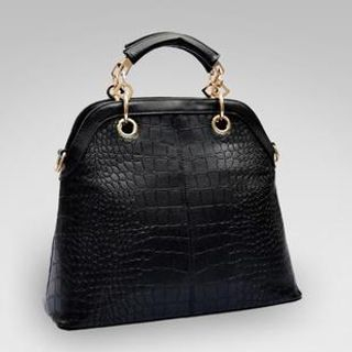 LineShow - Croc-Grain Cross Bag
