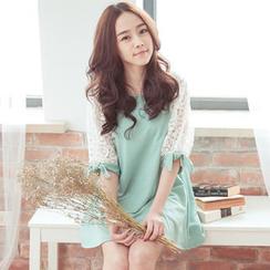 Tokyo Fashion - Lace Sleeve A-Line Tunic