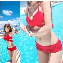 Jumei - 前裹式剪切比基尼泳衣