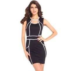 Dear Lover - Sleeveless Cut Out Sheath Dress