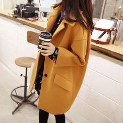 YUMU - Loose Fit Woolen Coat