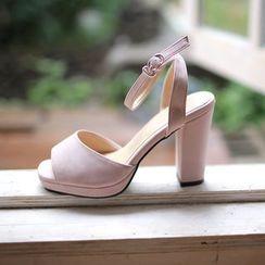 MyFiona - Faux-Suede Platform High-Heel Sandals