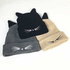 Hats 'n' Tales - Embroidered Cat-Ear Beanie