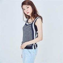 MAGJAY - Striped Knit Tank Top