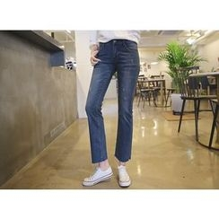 Envy Look - Washed Straight-Cut Jeans