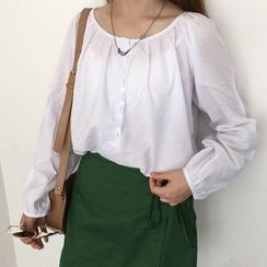 Eva Fashion - Linen Cotton Long-Sleeve Blouse