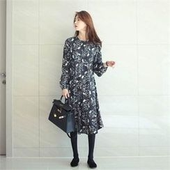 YOOM - Floral Patterned Midi Dress