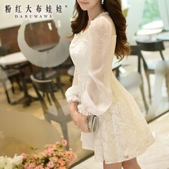 Dabuwawa - Long-Sleeve Lace Party Dress