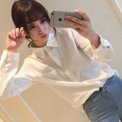 微米家 - 條紋襯衫