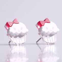Sweet & Co. - Miss Cupcake White Stud Silver Earrings