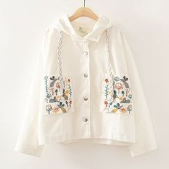 ninna nanna - Embroidered Hooded Jacket