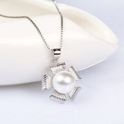 Zundiao - Sterling Silver Pendant with Pearl