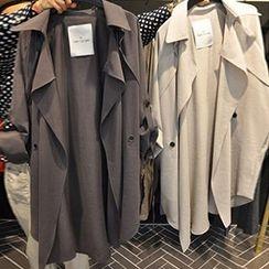 Metro Girl - Tab-Sleeve Trench Coat