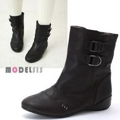 MODELSIS - Buckled Ankle Boots