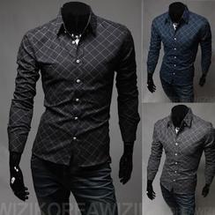 Hansel - 菱形長袖襯衫