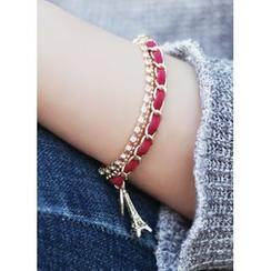 kitsch island - Metallic Layered Bracelet