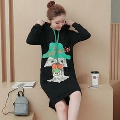 VIZZI - Print Hoodie Dress