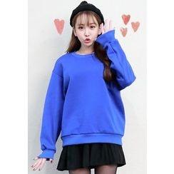 Dalkong - Pocket-Front Fleece-Lined Sweatshirt