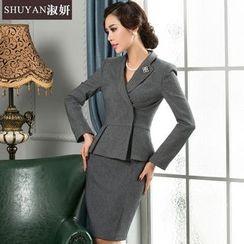 艾尚臣 - 荷葉腰外套 / 短裙 / 套裝