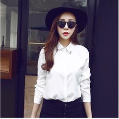 柚子美衣 - 鑽飾領襯衫