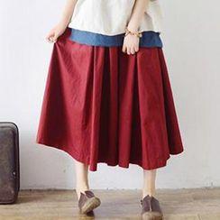 SMOD - A-Line Long Skirt
