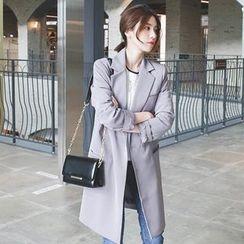mimi&didi - Single-Breasted Long Jacket