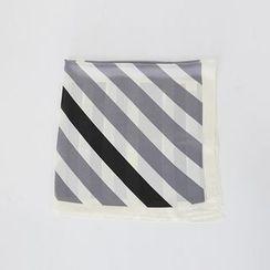 DABAGIRL - Stripe Light Square Scarf