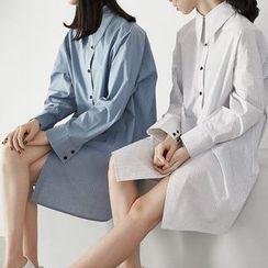 HORG - Pinstripe Long-Sleeve Shirtdress