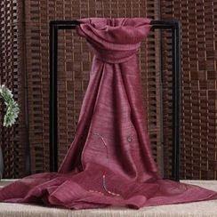 羚羊早安 - 刺繡圍巾