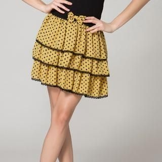 O.SA - Polka-Dot Layered Skirt