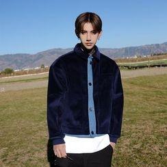 Mr. Cai - Corduroy Buttoned Jacket