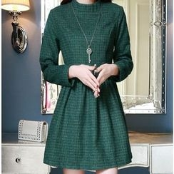 Sienne - Check Long-Sleeve Dress