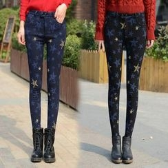 Angel Shine - Printed Fleece Lined Skinny Jeans