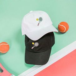 chuu - Embroidered Cotton Baseball Cap