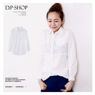D.P-Shop - Textured Linen Blouse
