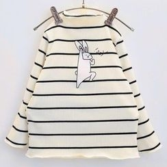 Rakkaus - Kids Long-Sleeve Striped Printed Top
