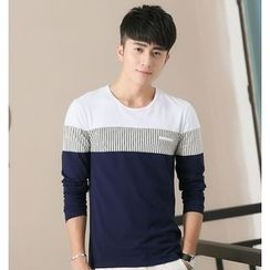 Neptuno - Colour Block Long-Sleeve T-shirt