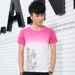 SOLER - Gradient Print Short-Sleeve T-shirt