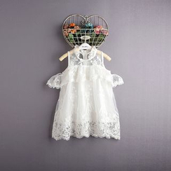 Kidora - 小童镂空肩蕾丝连衣裙