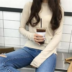QNIGIRLS - Cutout Washed Skinny Jeans