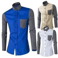 Blueforce - 雙色長袖襯衫