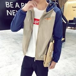 SOLER - Colour Block Hooded Jacket