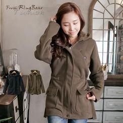 RingBear - Brushed-Fleece Long Hoodie