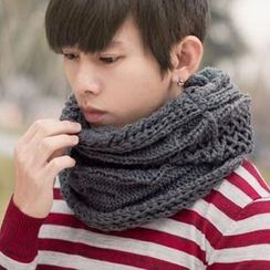 SeventyAge - 立體麻花柔軟粗針織保暖圍脖圍巾