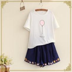 布衣天使 - 印花短袖T恤