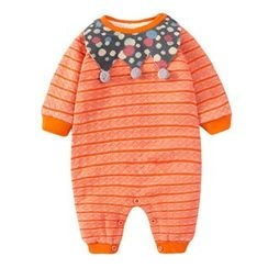 MOM Kiss - Baby Pompom Dotted Trim One-Piece