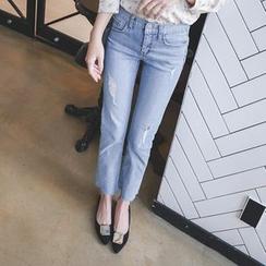 mimi&didi - Distressed Boyfriend Jeans