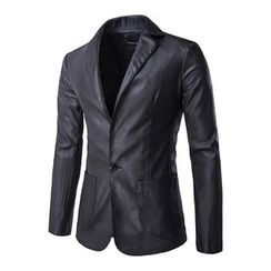 Fireon - Faux Leather Blazer